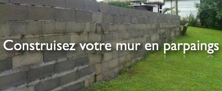Mur en parpaings