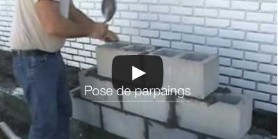 Videos mur parpaings tutoriels et illustration de - Monter un mur en parpaings ...