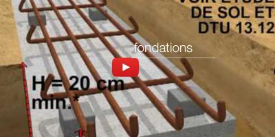 Vidéo fondations mur parpaings
